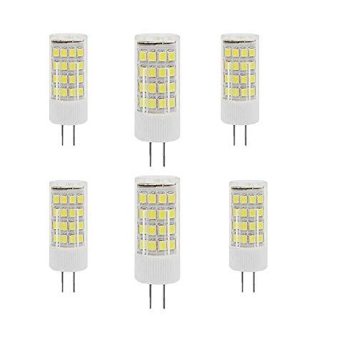 Bombillas LED G4 5W(Equivalente a Lámpara Halógena de 50W ) Blanco Frío 6000k 500Lumen AC220-240V Ángulo de haz de 360 ° Lámpara Ahorradora de Energía G4 No Regulable(Paquete de 6)
