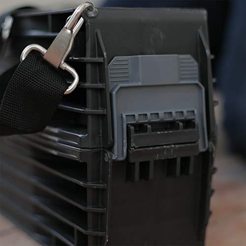 Stanley klappbares Unterstellbock Paar aus Metall 1-97-475 / Mit Kunststoffauflage & rutschfesten Gummifüßen / bis 340 kg Tragkraft / 101,7 x 12,5 x 75,8 cm - 8