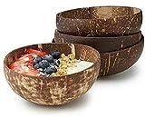 Cuencos de coco 2 uds, cuencosecológicos naturales hechos a mano, idealespara servir fideos,pasta,batido,gachas,cereal,regalo para veganos