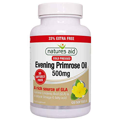 Natures Aid 500mg Evening Primrose Oil - Pack of...