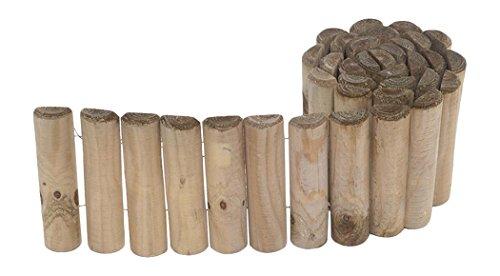 Bordure 1/2 rondins en pin modèle Siloux (50 - 180 x 30)