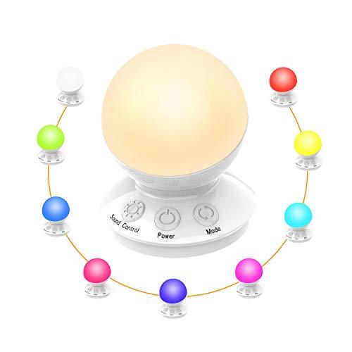 Sternenhimmel Projektor,Romantischer Traum Mit 16 Farben Sternenlicht Projektor USB Wiederaufladbare LED-Sprachsteuerung Nachtlicht Für Kindergeschenk/Party/Zimmer Deko