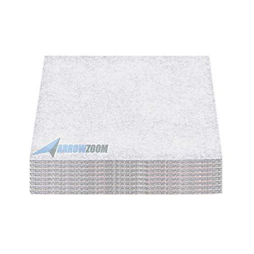 Arrowzoom 8 Deadening Sound Absorber Polyester Fiber High Density Fire Retardant Panels 12 X 12 in...