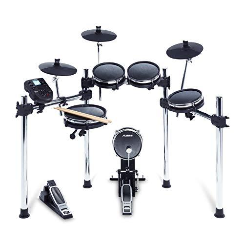 Alesis Surge Mesh Kit - Achtteiliges Mesh-E-Drum-Set mit Drumsticks, 385 elektronischen / akustischen Schlagzeug-Sounds und 60 Play Along Tracks