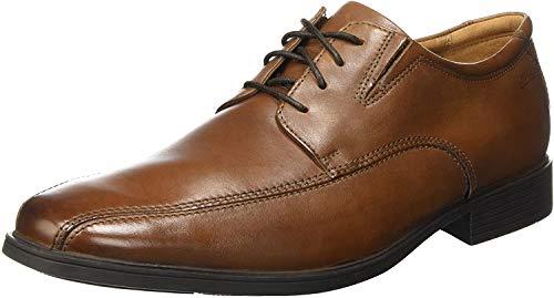Clarks Tilden Walk, Zapatos de Cordones Derby Hombre, Marrón (Dark Tan Leather-), 43 EU