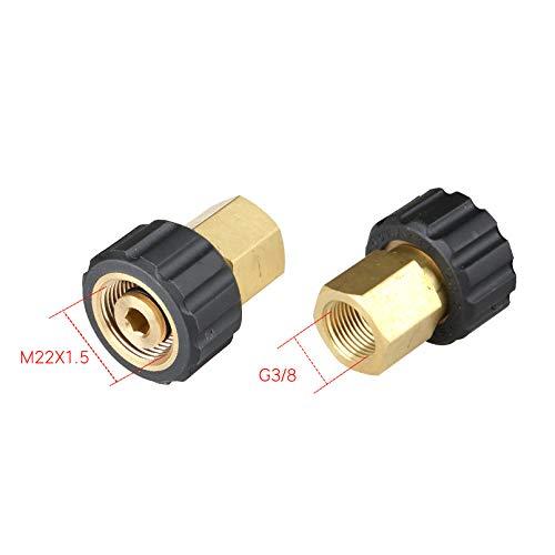 T&F Hochdruckreiniger Adapter M22 zu M22 / 3/8 Zoll / 1/4 Zoll Quick Connect Auto Spritzpistole Anschluss