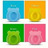 CREATE ILLUSION Bol Mantel de Silicona Antideslizante con Ventosa para Bebé - libre de BPA - Alimentación BLW - Forma de Osito (Rosa)