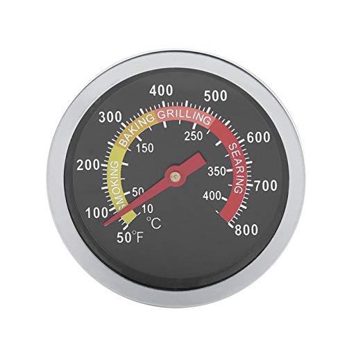 Omabeta Medidor de Temperatura para ahumador de Parrilla de carbón, medidor de Temperatura de termómetro de Barbacoa de Acero Inoxidable de 50~800 ℉ para cocinar