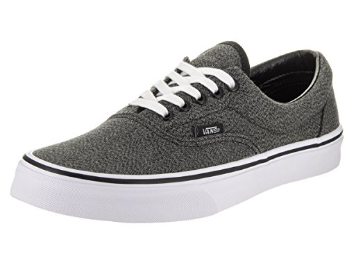 Vans Unisex Era (Suiting) Black/True White Skate Shoe 6.5 Men US / 8 Women US