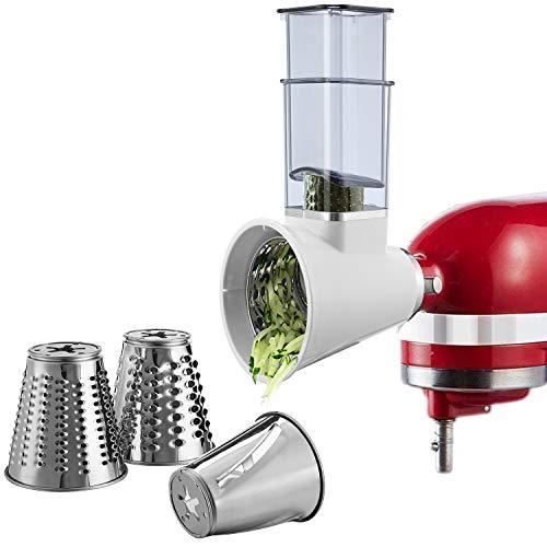Affettatrice per trituratore KitchenAid Stand Mixer, tritatutto per formaggi, grattugia, insalata, taglierina per verdure, lavabile in lavastoviglie