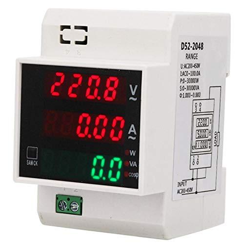 Contatore di energia digitale, misuratore di potenza multifunzionale, misuratore di potenza con display digitale multifunzionale, per tensione corrente La(AC200-450 100A)