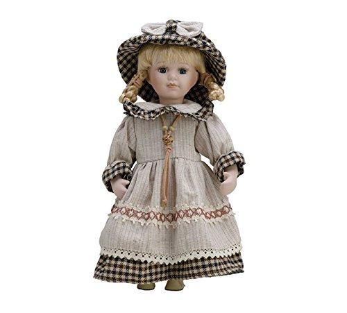 Puppe aus Porzellan, 30 cm, mit Ständer. Wanda – BAM015