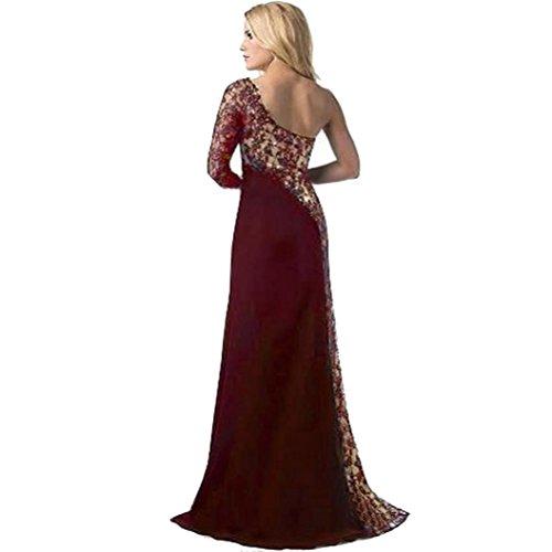 Damen Kleid Ronamick Frau Formale Hochzeit Brautjungfer langes Ball Abendkleid Cocktailkleid (XXL, Wein)
