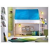 IKEA KURA tienda de cama 97x68 cm turquesa