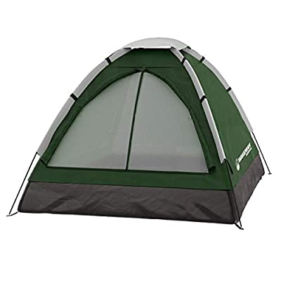2-Person Dome Tent- Water Resistant, Removable Rain Fly & Carry Bag- Easy Set Up-Great for Camping, Hiking & Backpacking by Wakeman Outdoors (Green)