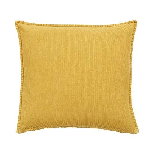 Nordal Kissen aus Cord 48x48 cm Curry Gelb