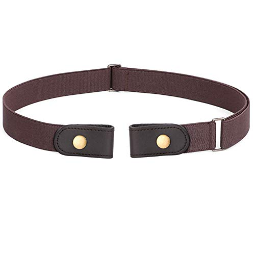 No Buckle Stretch Belt For Women Men Elastic Waist Belt Up to 72 Inch for Jeans Pants,Coffee,Pants Size 23-30 Inches