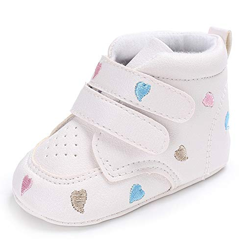 Zapatos de Bebe, Infantil Recién Nacidos Bebé Niños Niñas corazón Bordado Zapatos Zapatillas Antideslizantes Sneaker Zapatitos Primeros Pasos