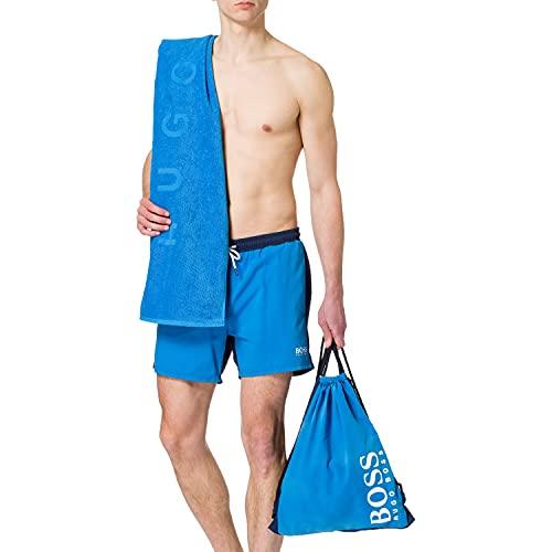 BOSS Beach Set Bañador + Toalla de baño, Bright Blue438, M para Hombre