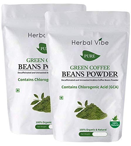 Herbal Vibe Green Coffee Beans Powder Natural Immunity Booster and Weight Loss Partner: 2 X 100 G (Pack of 2)