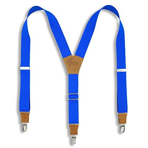 Wiseguy Original - Tirantes elásticos (3,5 cm), color azul real