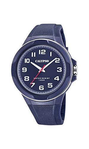 Calypso heren analoog kwarts horloge met plastic armband K5771/3