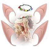 Orejas De Elfo,Orejas De Látex,Orejas de Hada,Utilizado para Halloween, Navidad y vestuario de elfos, juegos de rol de fiesta de elfos, monstruos, orejas de elfo vampiro (A)
