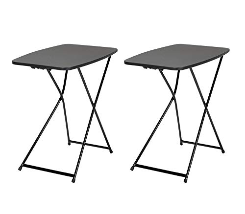 Cosco Multi-Purpose, Adjustable Height Personal Folding Activity Table, 2-Pack, Black