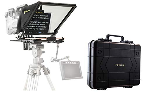 """Glide Gear TMP 750 17"""" Professional Video Camera Tablet Teleprompter 70/30 Beam Splitting Glass with Hard Protective Carry Case"""