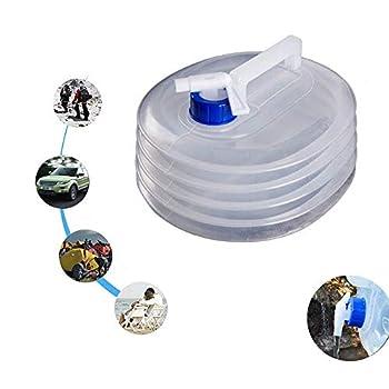 Eamplest 5L 10L 15L Réservoirs Eau Pliables avec Robinet, Bidon d'eau Pliable Plastique, sans BPA, pour Camping, Randonnée, l'Escalade, Vacances (15L)
