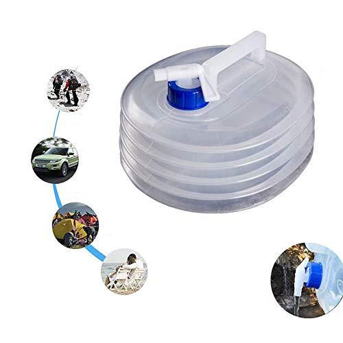 Eamplest 5L 10L 15L Bidón de Agua Plegable, Contenedor de Agua portátil,...