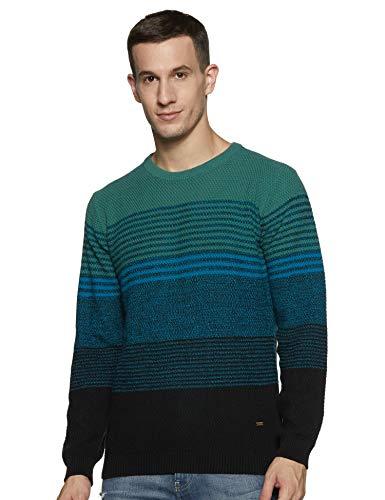 blackberrys Men's Cotton Sweater (EN-Lopez # Algae Green Large)