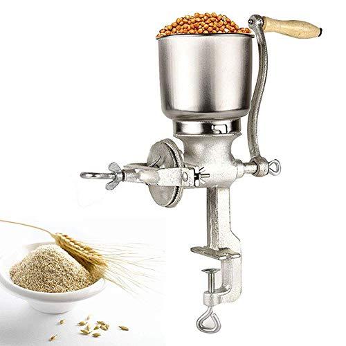 Cocoarm Molino Café,Molino de Grano de café Amoladora de Cocina Ajustable de Mano Molino de harina Molino de máquina de Equipo para Trigo de maíz Avena