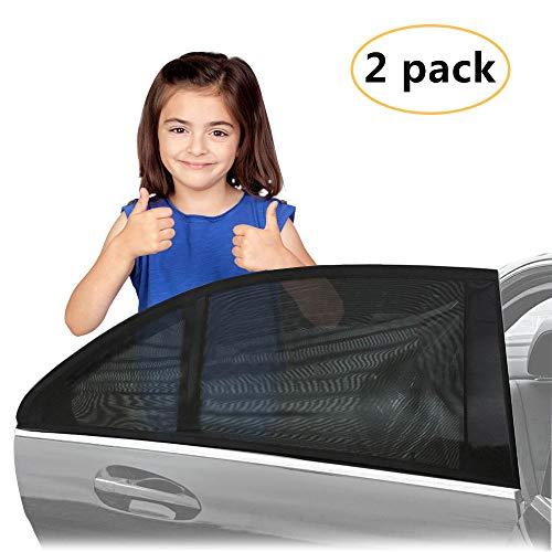 Aodoor Sonnenschutz Auto Kinder, Universal Seite Fenster Sonnenschutz Sonnenblende Autos blockt für Kinder, Hunde und Baby, Reduzierung von Sonneneinstrahlung(2er-Pack)