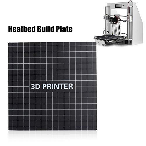 Oumij 3D-Drucker Abnehmbare Glasfaser-Heizplatte + Plattformaufkleber für Ender-3, Leistungssteigerung, gesundes 3D-Drucken(235 * 235 mm)