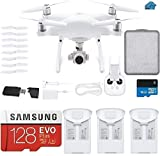 DJI Phantom 4 PRO V2.0 Quadcopter Drone with 1-inch 20MP 4K Camera KIT, 3 Total DJI Batteries, 128...