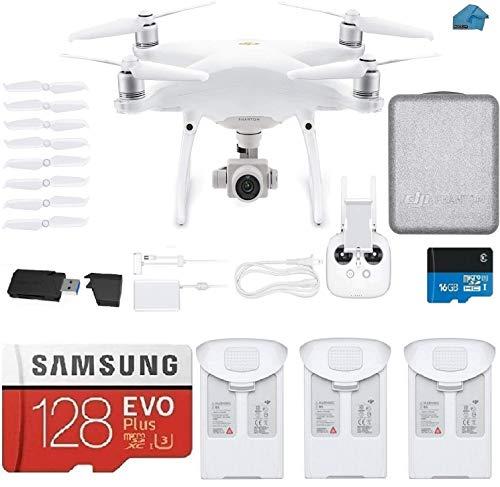 DJI Phantom 4 PRO V2.0 Quadcopter Drone with 1-inch 20MP 4K Camera KIT, 3 Total DJI Batteries, 128 gb Micro...