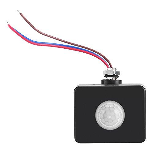 Garosa Infrarot Bewegungsmelder Mini 360 ° Deckeneinbau PIR Körper Bewegungsmelder Einstellbar Lampe Lichtschalter für Home Security 110-240V