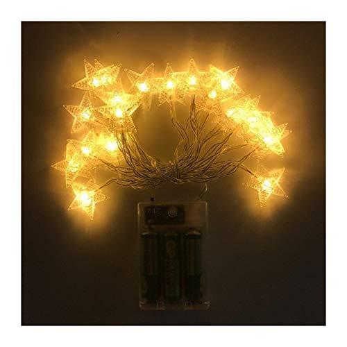 MUZIWENJU 1.5M 3M neues Jahr 6M 10M Stern-Schnur-Lichter LED-Fee Garland wasserdicht for Weihnachten nach Hause Wedding Innendekoration Warm White (Farbe : Warm White, Größe : 10M 80LEDs)