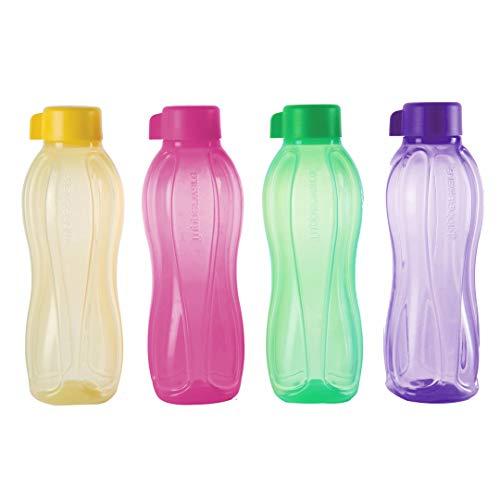Tupperware Aquasafe - Botella de agua (1 L, 4 unidades)