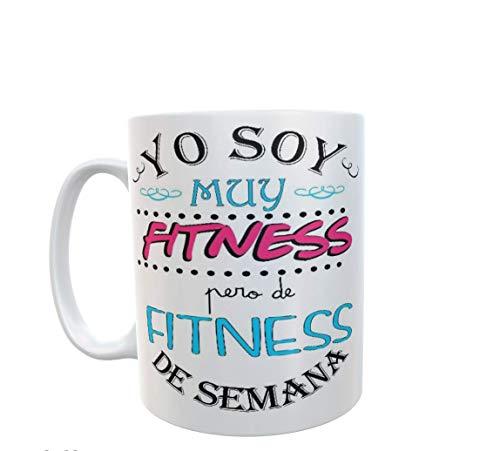 SAQUITOMAGICO Taza Yo Soy Muy Fitness.Pero de Fitness de Semana