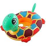 TOYANDONA Anillo de Natación Inflable con Flotador de Piscina para Bebés de 1 Pieza con Asas de Asiento Flotante para Niños de 6 Meses a 6 Años (Color Aleatorio)
