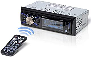 BOSS Audio Systems 632UAB Multimedia Car Stereo - Single Din, Bluetooth Audio and Hands-Free Calling, Built-in Microphone, MP3 Player, USB Port, AUX Input, AM/FM Radio Receiver, Detachable Front Panel