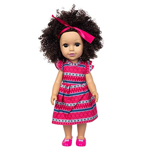 Meilily Puppen, Puppe Doll, Babyspielzeug, Baby Puppe, Curly Hair Cute Doll Simulation Cute Curly Hair Doll 35CM Babyspielzeug