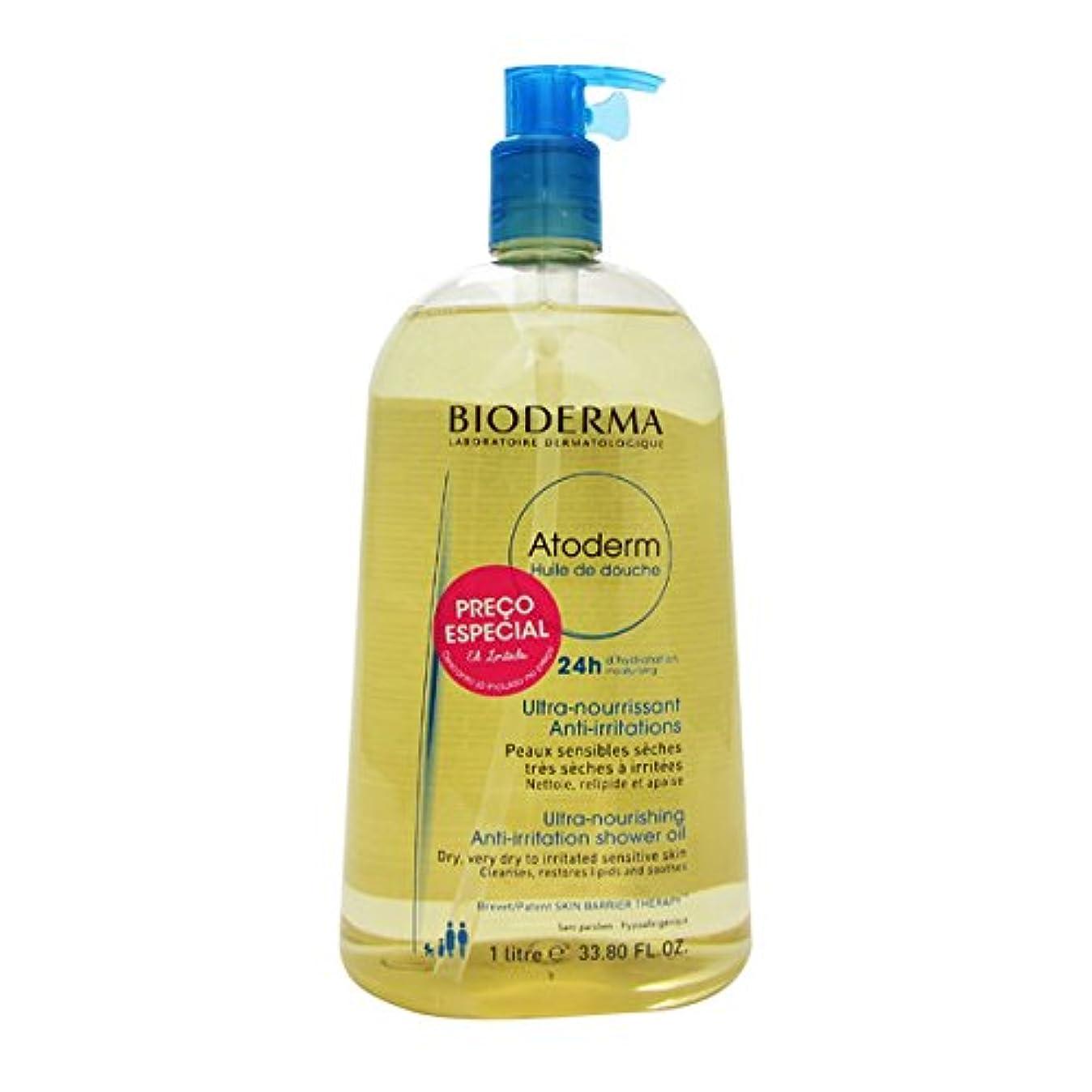 風味保守的害Bioderma Atoderm Shower Oil 1000ml [並行輸入品]