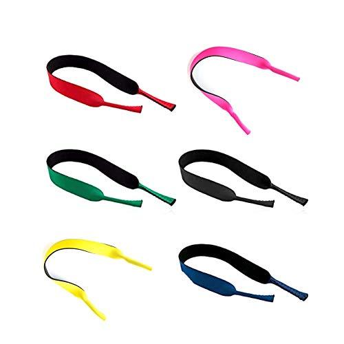 YHTSPORT Gafas de Neopreno con cordón elástico Correa de retención para Gafas Deportivas y Gafas de Sol, Porta Gafas Gafas para la Cabeza Banda para la Cabeza Flotador Antideslizante Cuerd