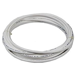 Vyair 15 Metres Tuyau de filtre pour l'alimentation en eau du compteur pour s'adapter aux réfrigérateurs doubles de style américain et européen (blanc) (tuyau de 1/4