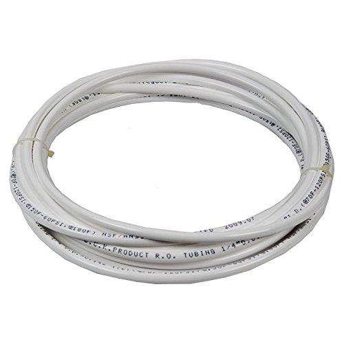 """Vyair 15 MetrosTubo de filtro de suministro de agua de medidor para adaptarse a la nevera doble de estilo americano y europeo (Blanco) (Tubo de 1/4"""")"""