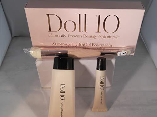 Doll N°10 Supersize Hydra Gel Foundation,Concealer+Pinsel
