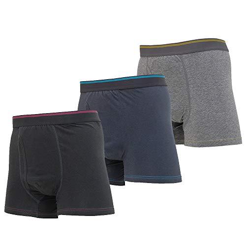 メンズ失禁 尿漏れパンツ男性用 スマートボクサーパンツ 無地3色セット(各色1枚) (LL)